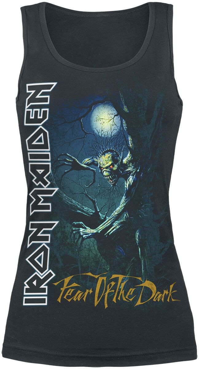 Image of   Iron Maiden Fear Of The Dark Girlie top sort