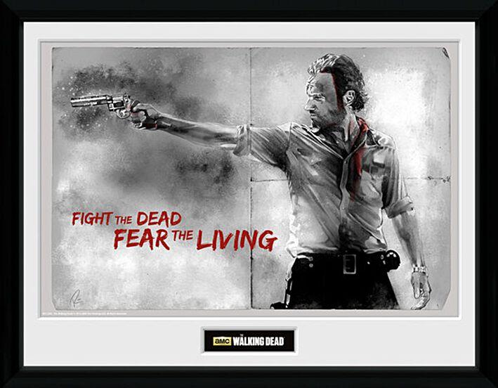 Image of   The Walking Dead Rick Grimes Indrammet billede standard