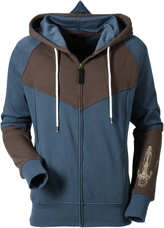 Image of   Assassin's Creed Unity Hættejakke blå-brun