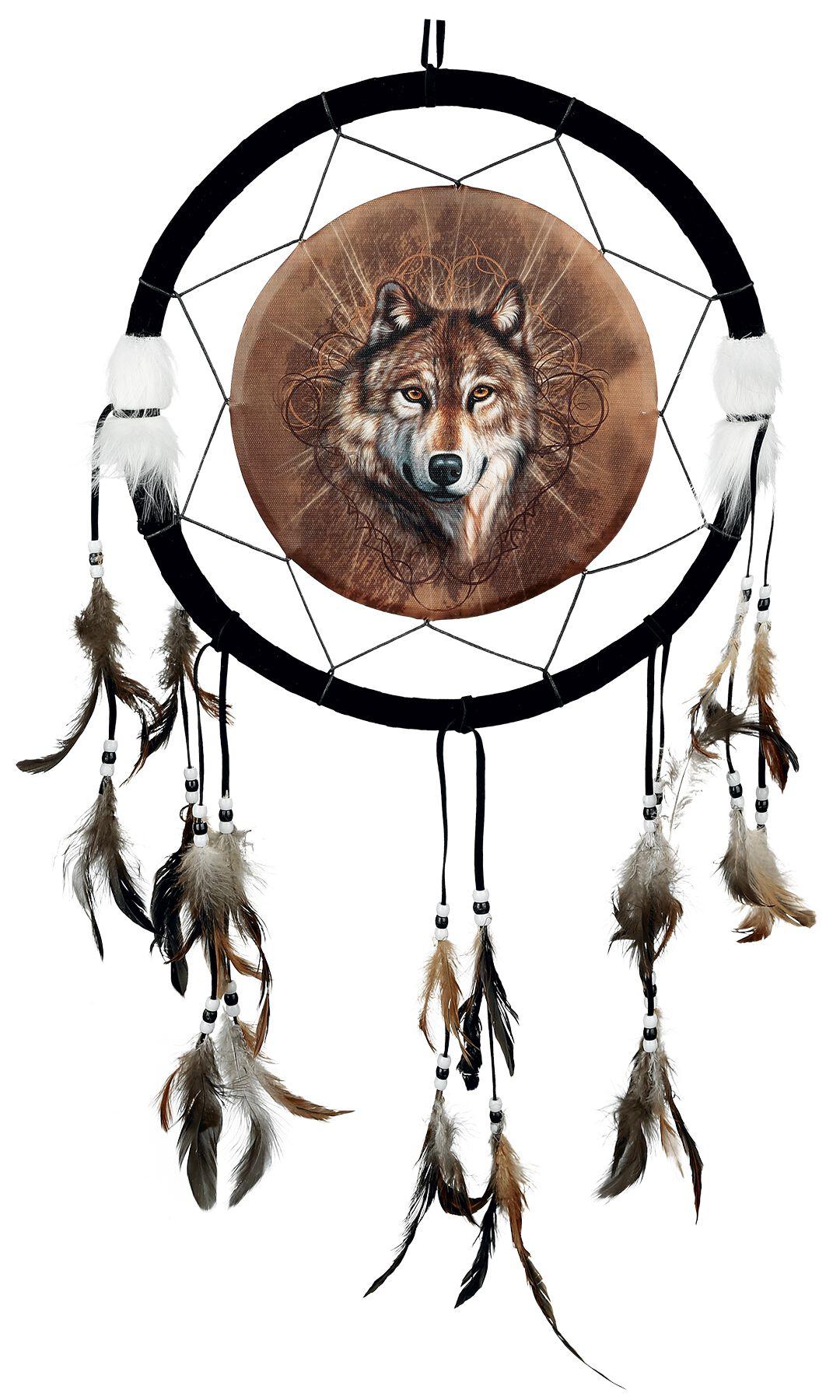 Image of   Nemesis Now Dreamcatcher Lone Wolf Drømmefanger sort-brun