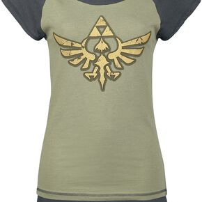 The Legend Of Zelda Triforce Pyjama noir/vert