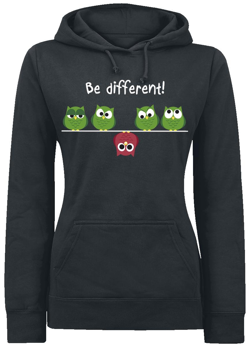 Be Different! Bluza z kapturem damska czarny