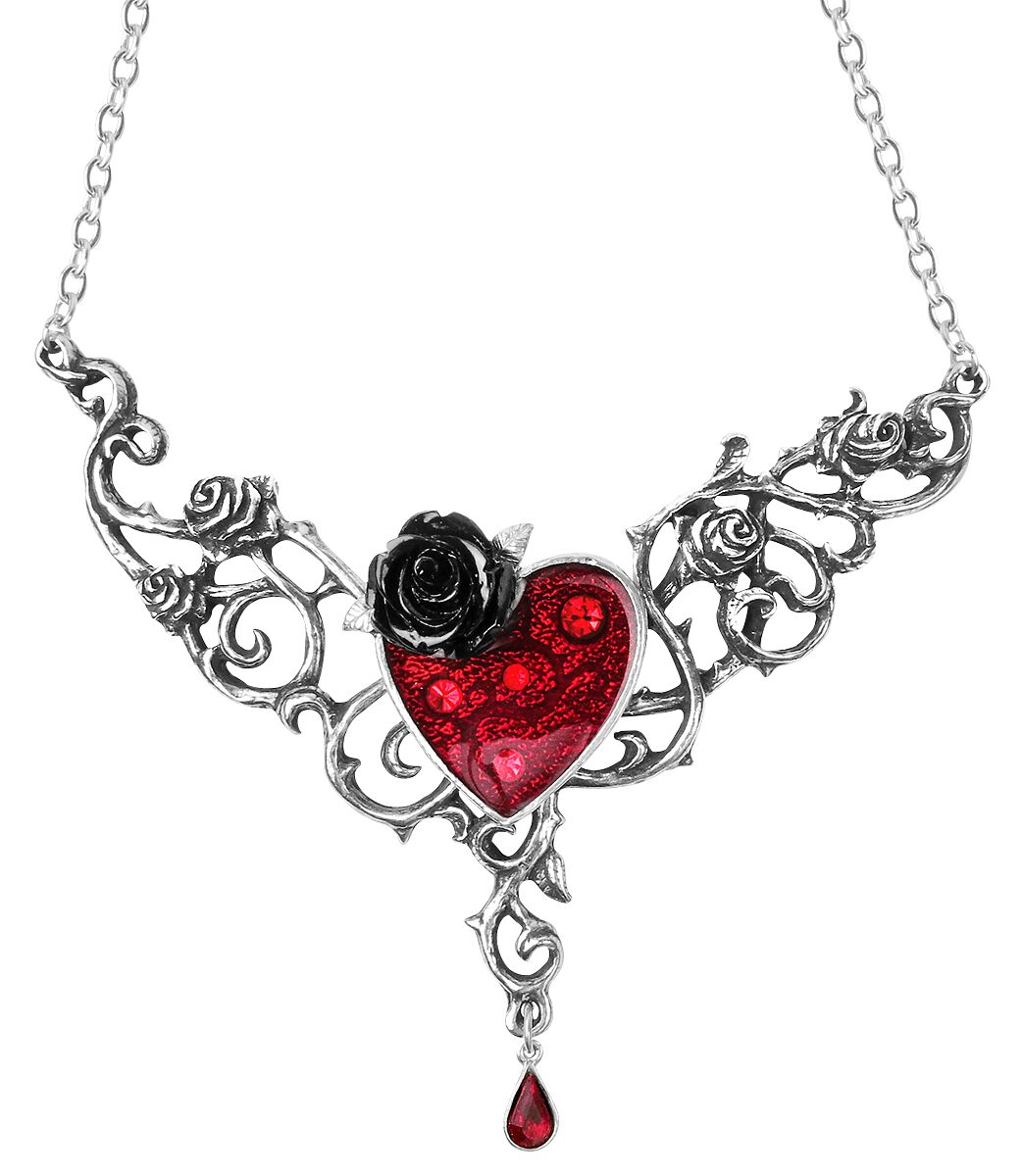 Image of   Alchemy Gothic Blood Rose Heart Halskæde standard