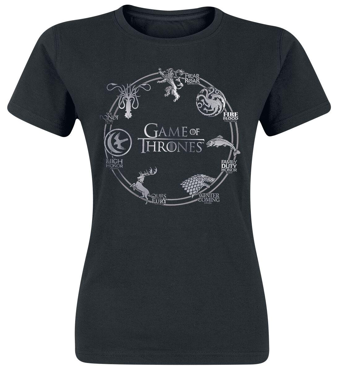 Image of   Game Of Thrones Circle Logo Girlie trøje sort