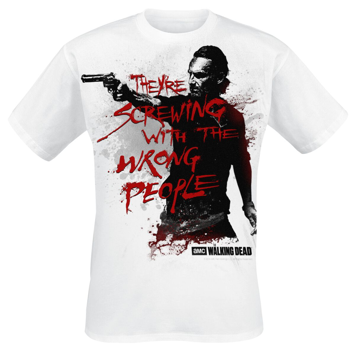 Image of   The Walking Dead Rick Grimes - Wrong People T-Shirt hvid