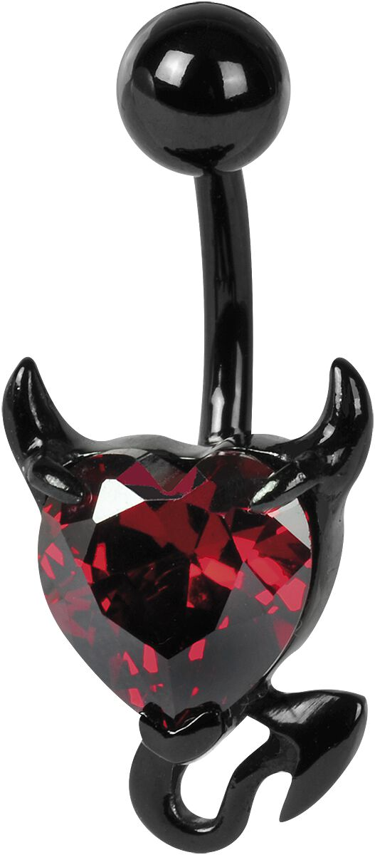 Wildcat Crystal Devil Heart Bauchnabel-Piercing...