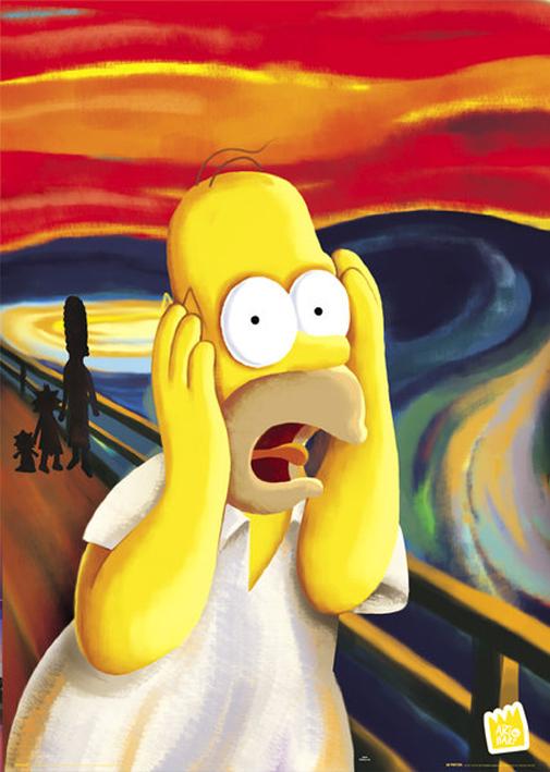 The Simpsons - Scream - Poster - multicolour