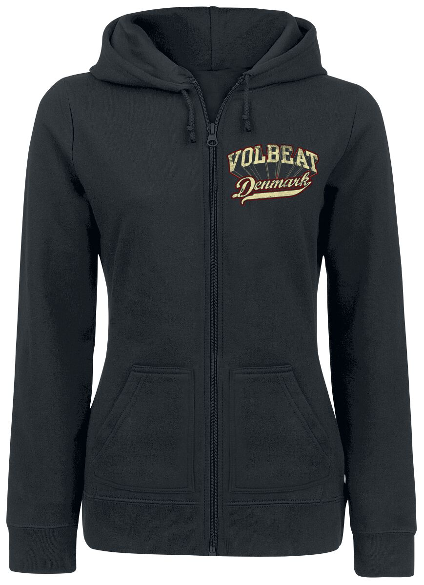 Image of   Volbeat Rise from Denmark Girlie hættejakke sort