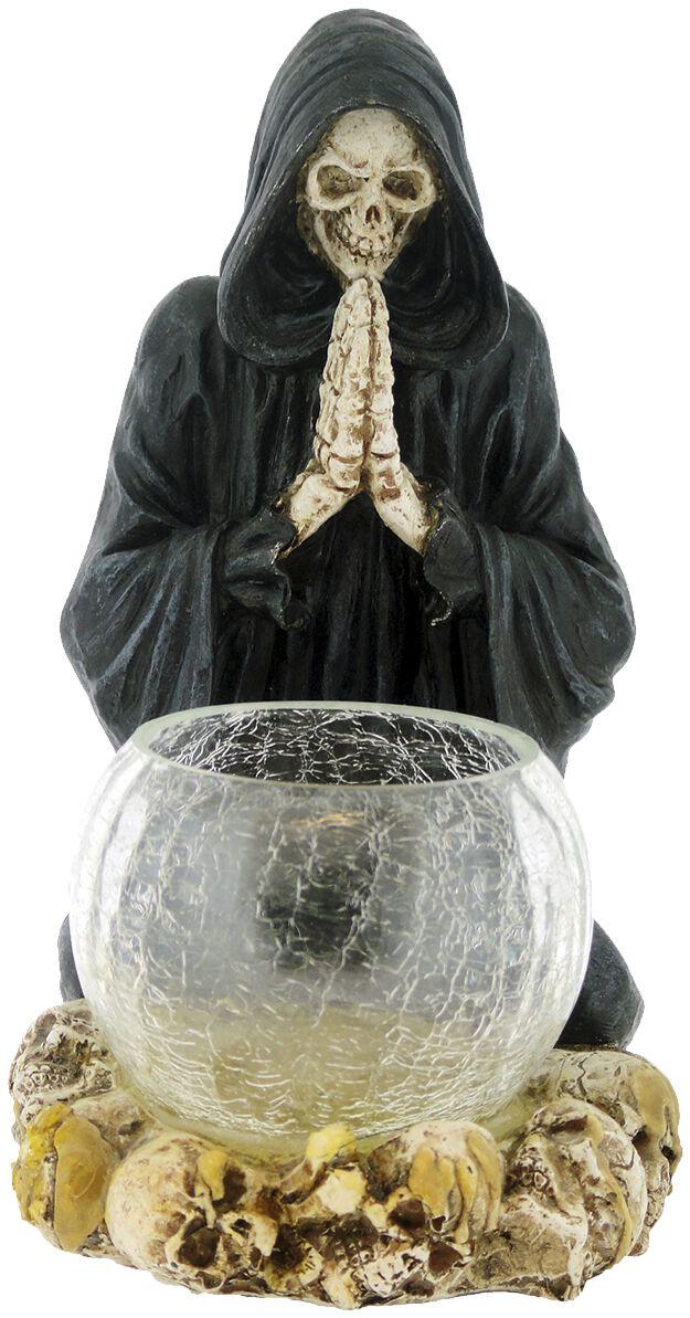Image of   Nemesis Now Reapers Prayer Candle Holder Fyrfadslys holder sort-hvid