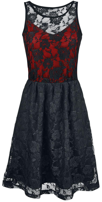 Image of   Black Premium by EMP Darling Dress Kjole sort-rød