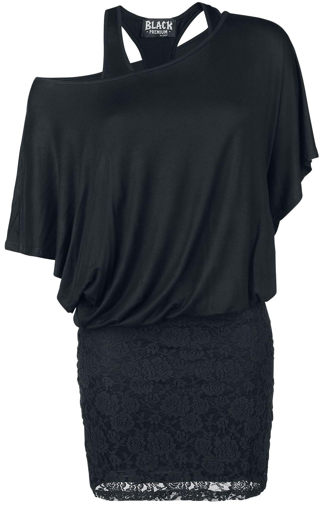 Image of   Black Premium by EMP Bat Double Layer Dress Kjole sort