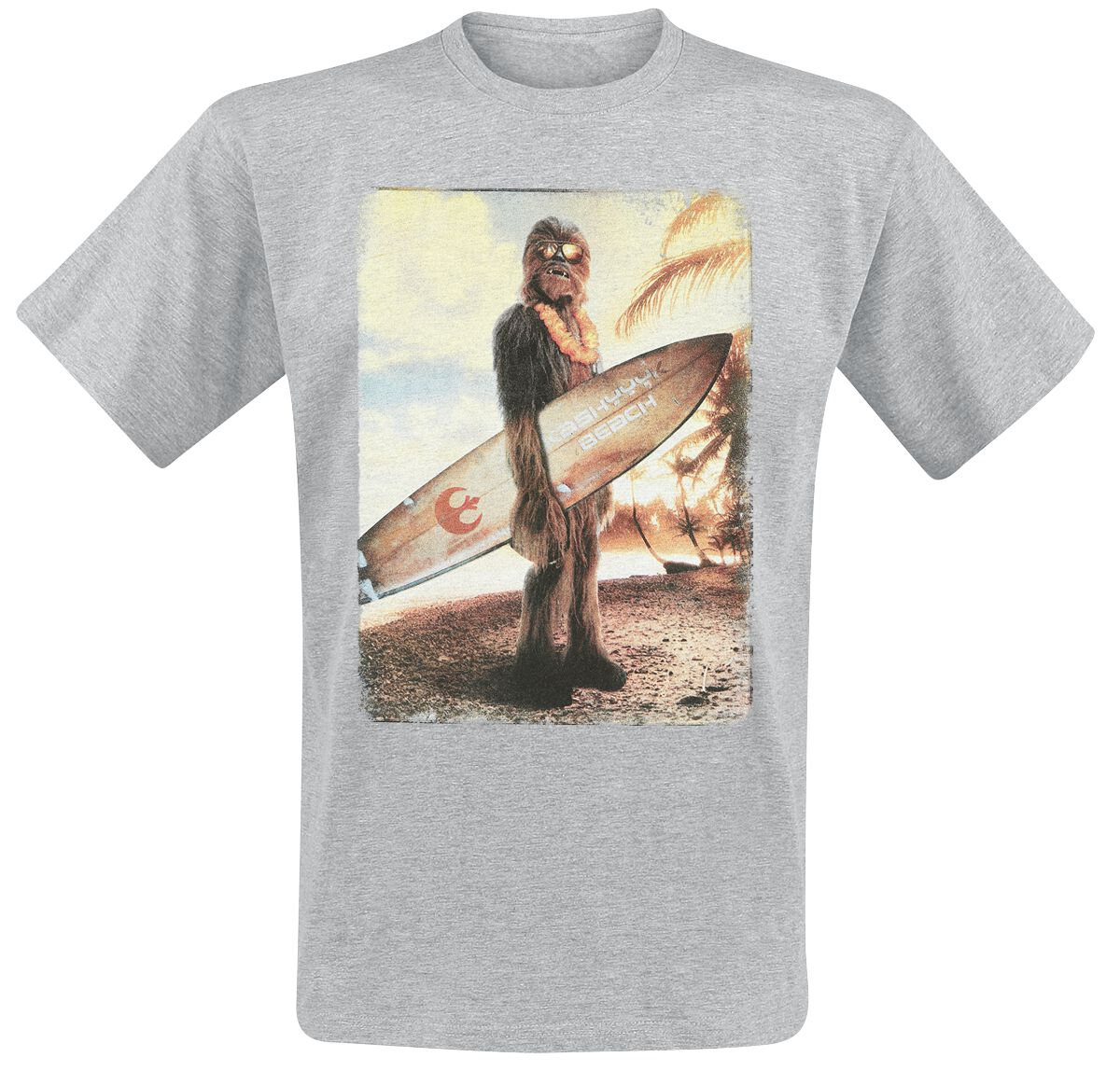 Image of   Star Wars Chewie On The Beach T-Shirt grålig