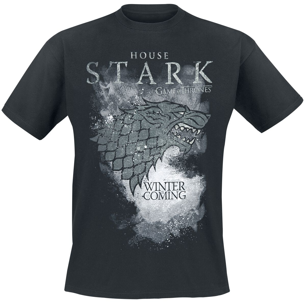 Image of   Game Of Thrones House Stark - Winter Is Coming T-Shirt sort
