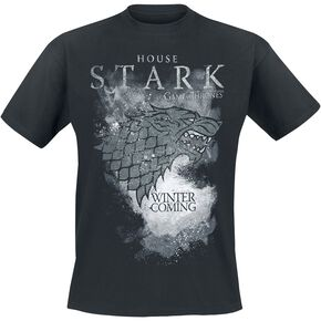 Game Of Thrones Maison Stark - Winter Is Coming T-shirt noir