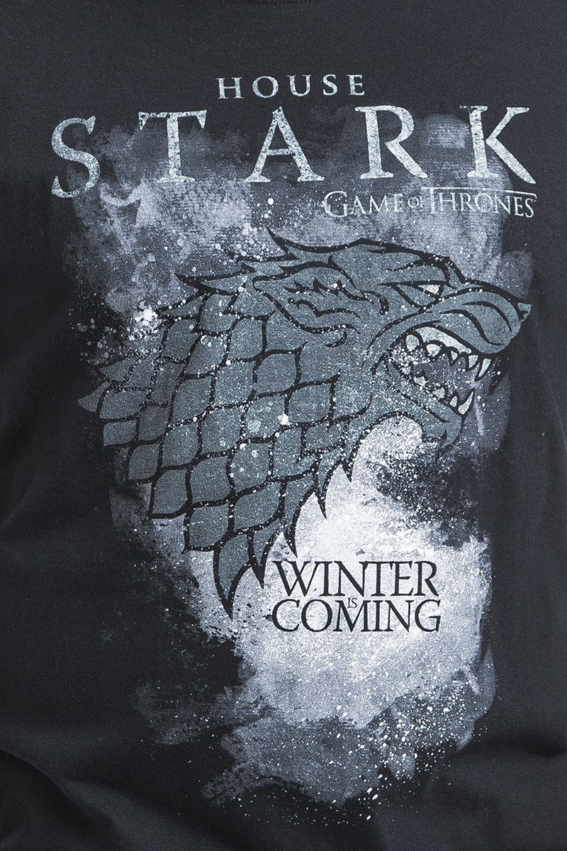 game of thrones house stark winter is coming t shirt. Black Bedroom Furniture Sets. Home Design Ideas