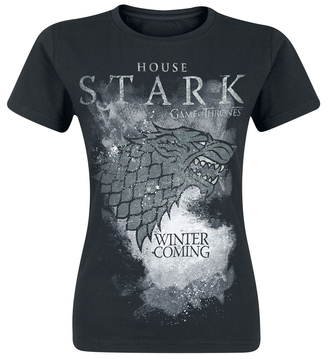Image of   Game Of Thrones House Stark Girlie trøje sort