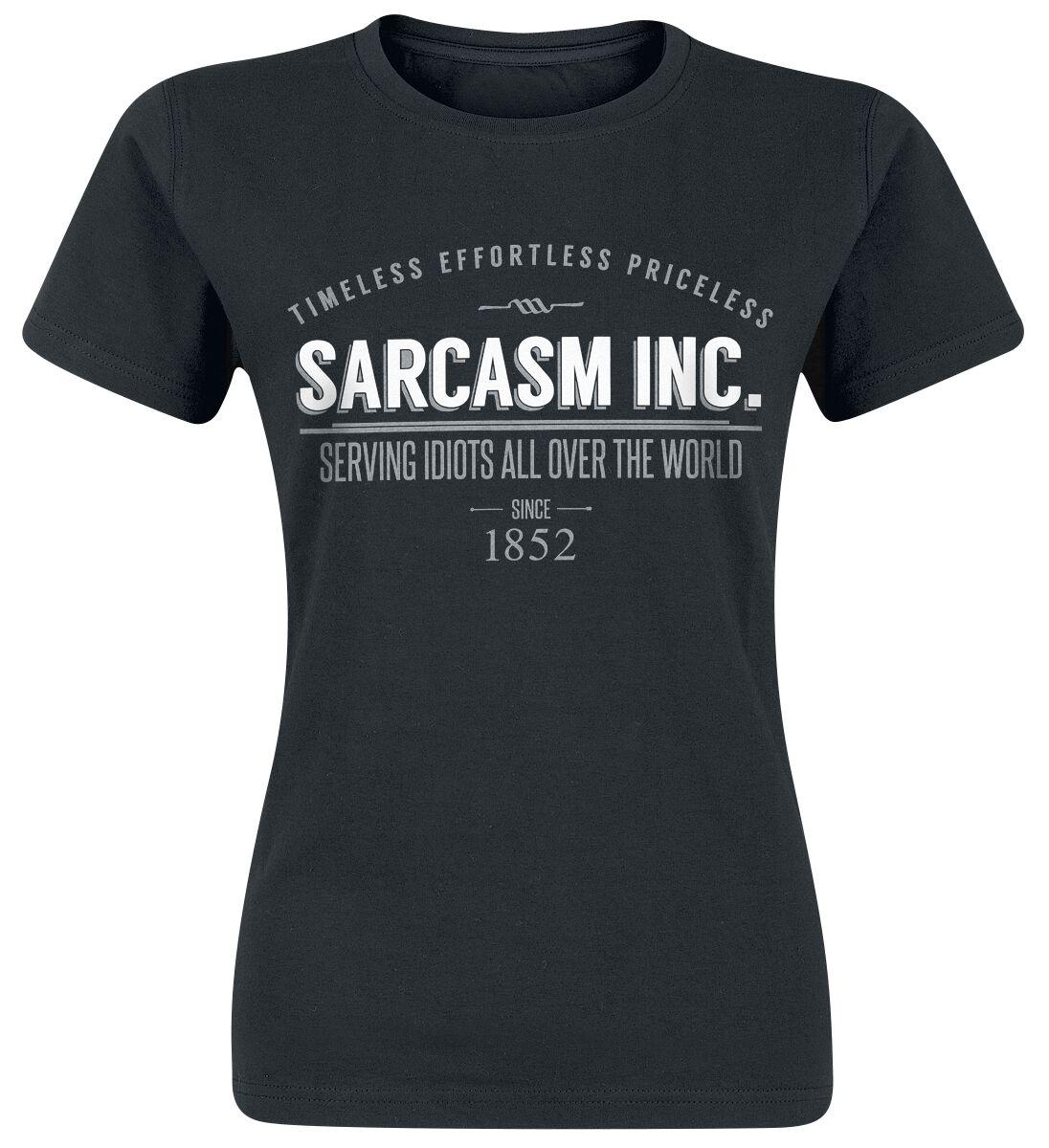 Sarcasm Inc. Koszulka damska czarny