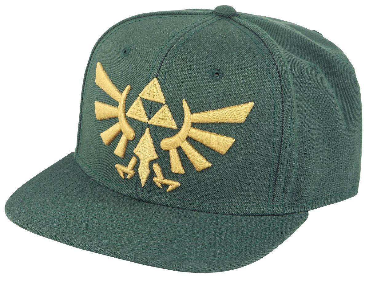 Image of   The Legend Of Zelda Golden Logo Snapback Cap mørk grøn