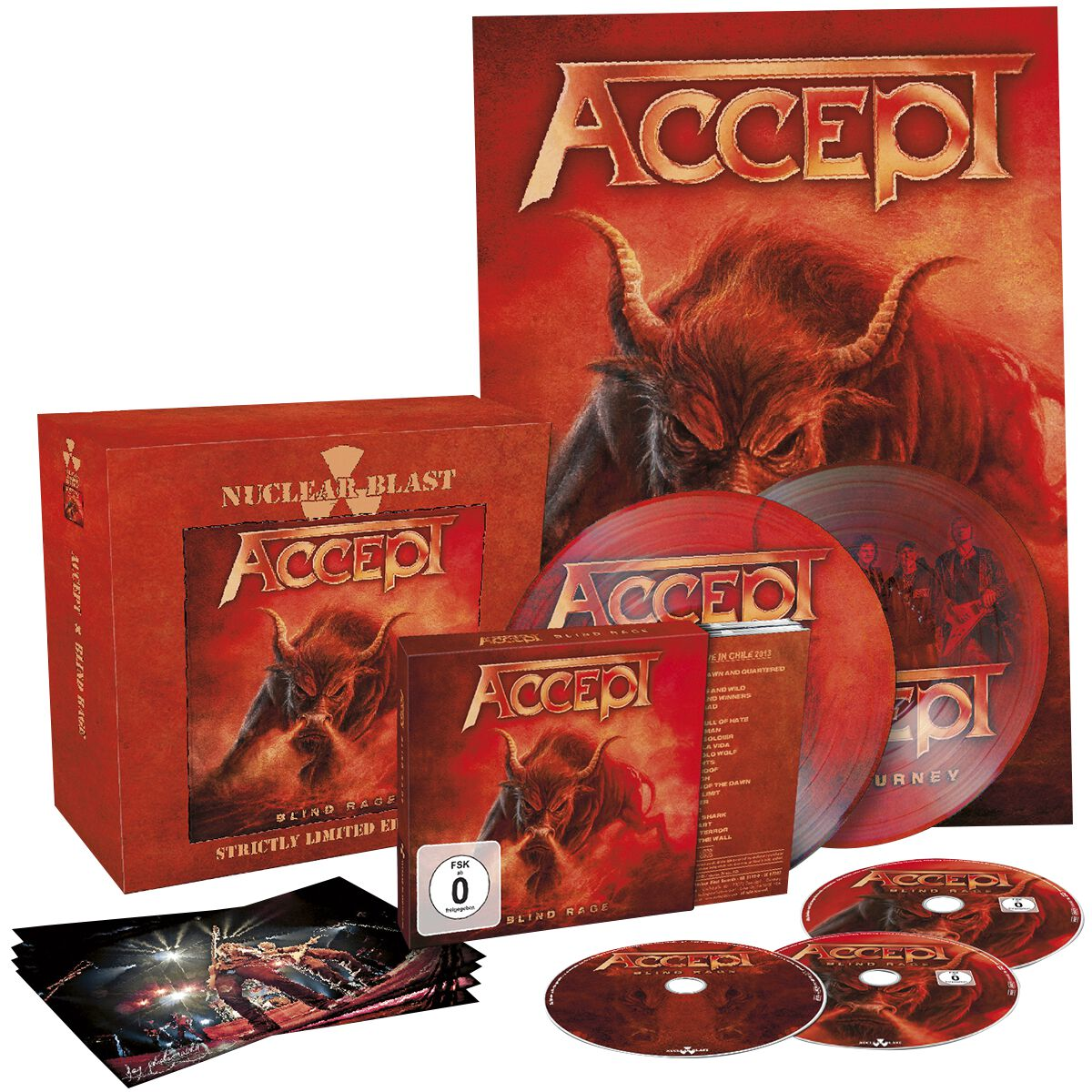 Image of Accept Blind rage CD & DVD & Blu-ray & 2 x 7 inch Standard