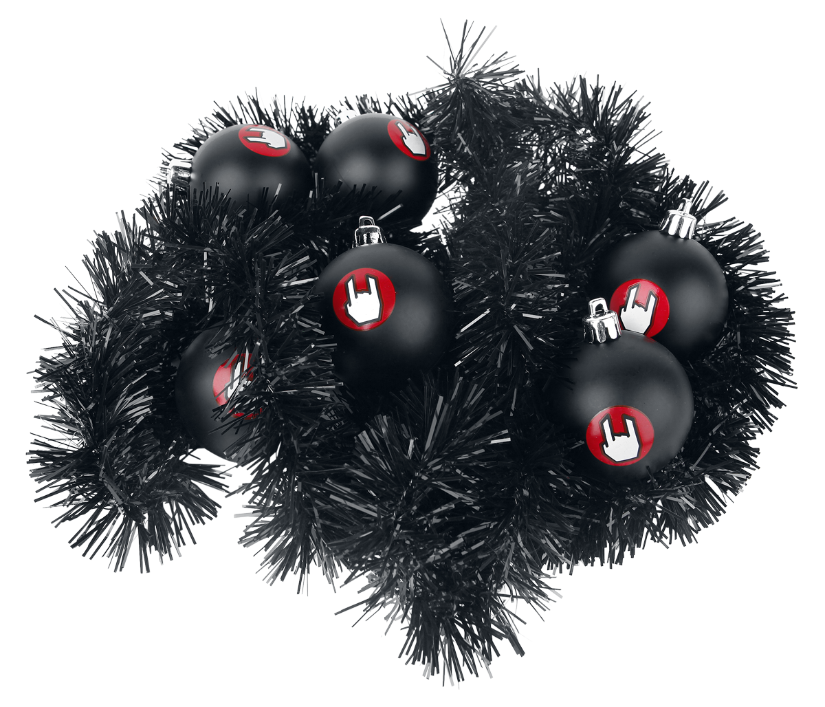 EMP - Christmas Baubles & Lametta - Christmas Tree Balls - black