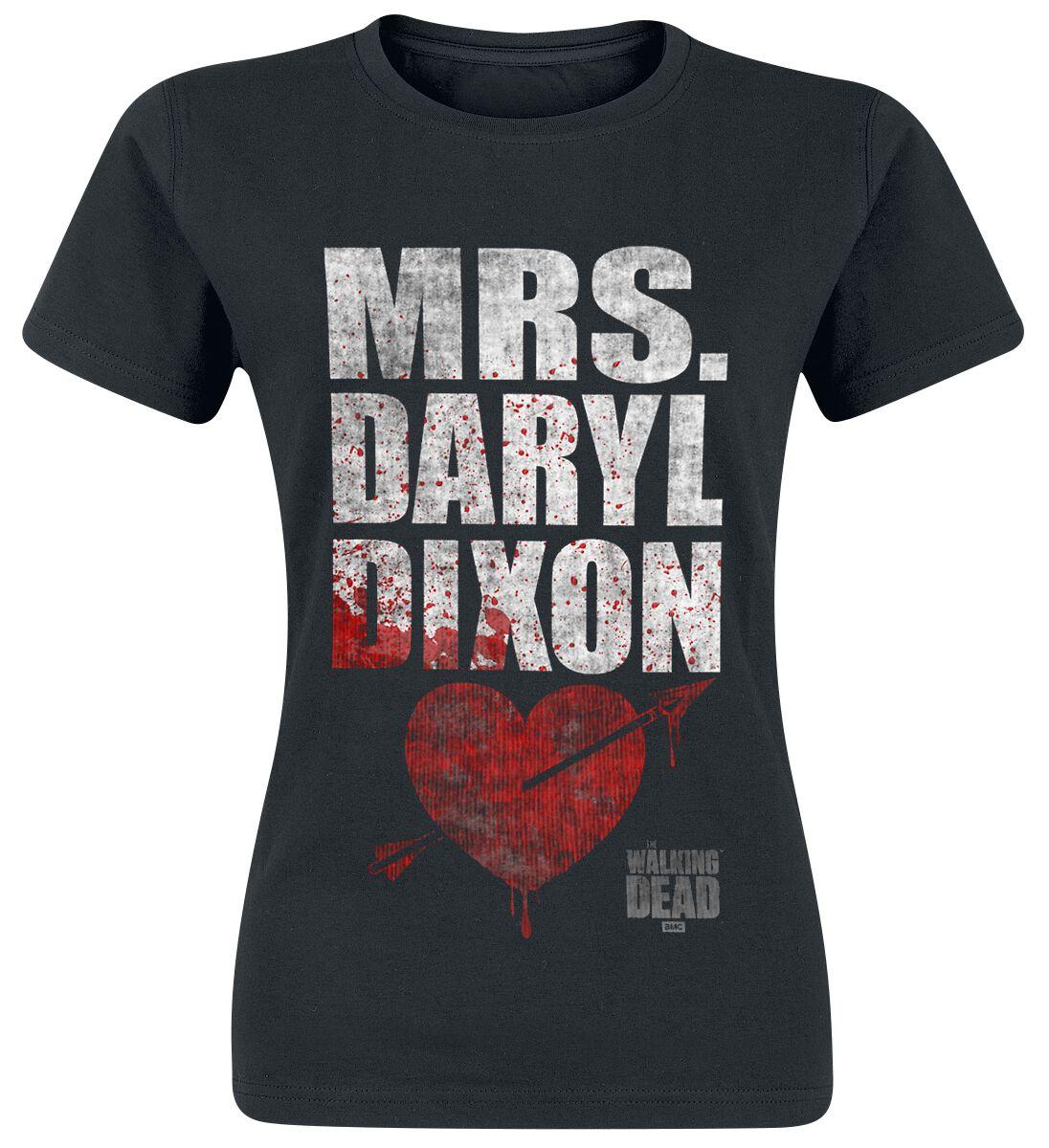 Image of   The Walking Dead Mrs. Daryl Dixon Girlie trøje sort