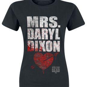 The Walking Dead Mrs. Daryl Dixon T-shirt Femme noir