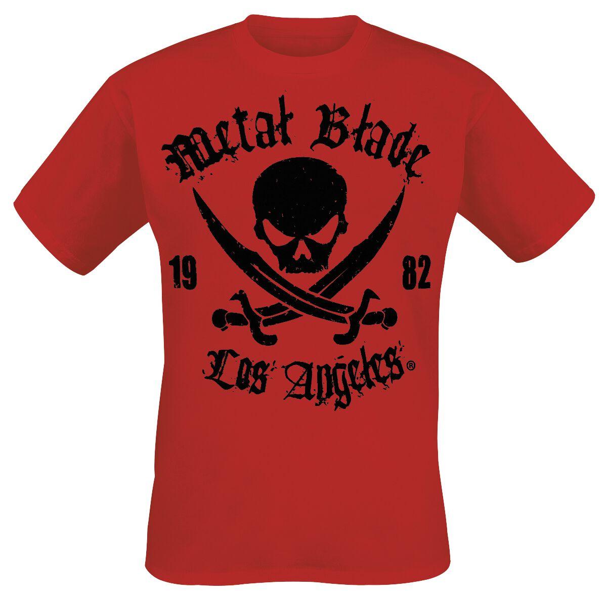 Merch dla Fanów - Koszulki - T-Shirt Metal Blade Pirate Logo T-Shirt czerwony - 289818