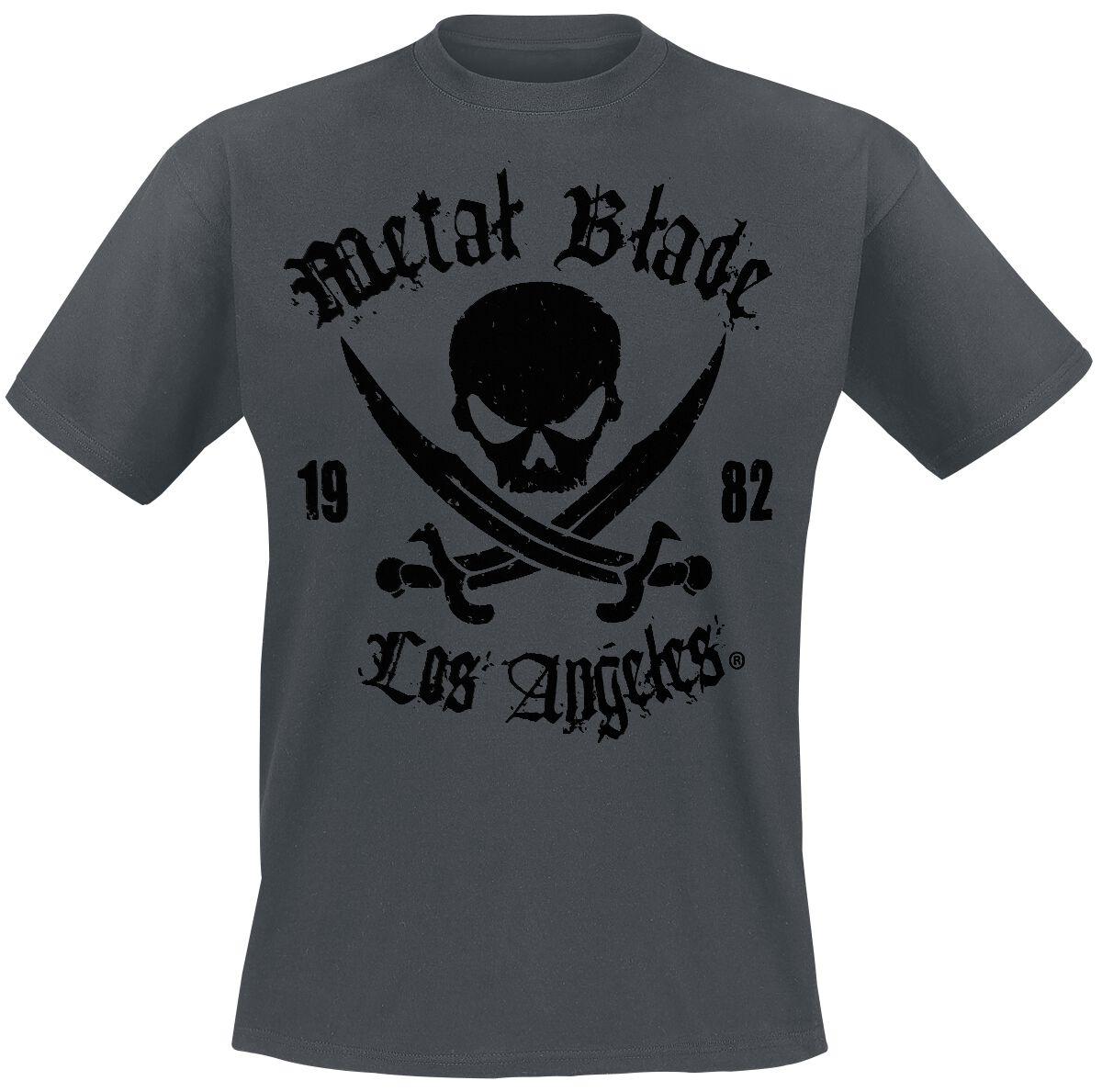 Merch dla Fanów - Koszulki - T-Shirt Metal Blade Pirate Logo T-Shirt szary - 289822