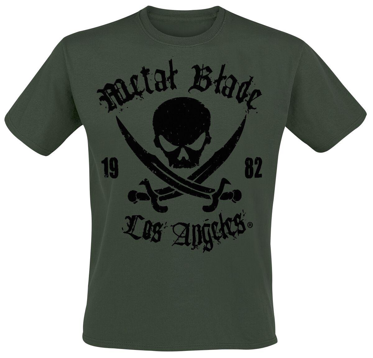 Merch dla Fanów - Koszulki - T-Shirt Metal Blade Pirate Logo T-Shirt zielony - 289823