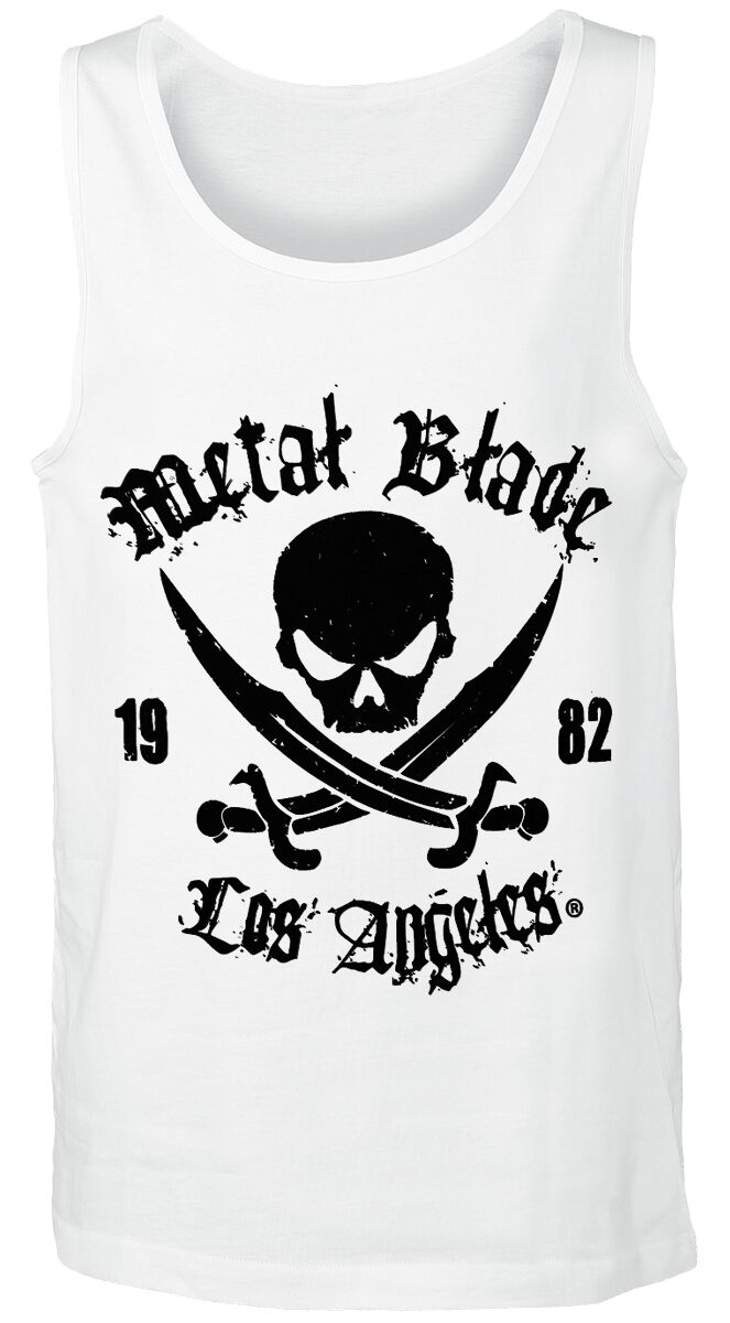 Merch dla Fanów - Topy - Tanktop Metal Blade Pirate Logo Tanktop biały - 289825