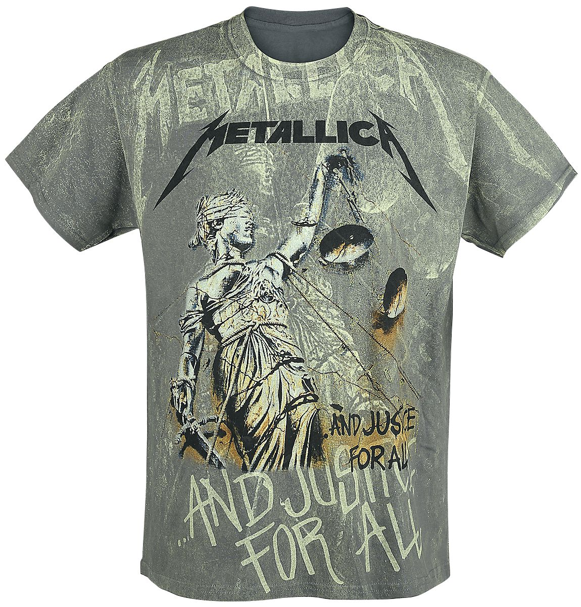 Image of   Metallica ... And Justice For All - Neon Backdrop T-Shirt koks