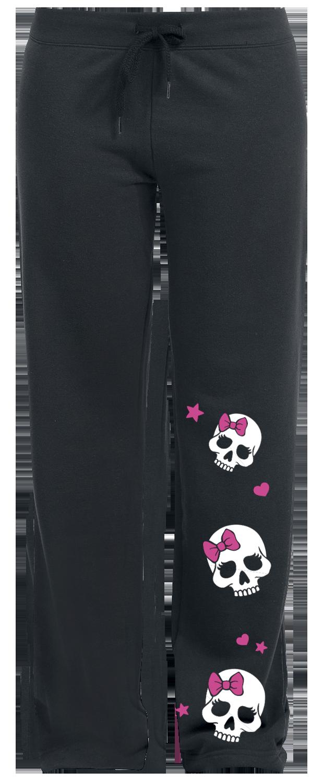 Skully Spodnie dresowe damskie czarny