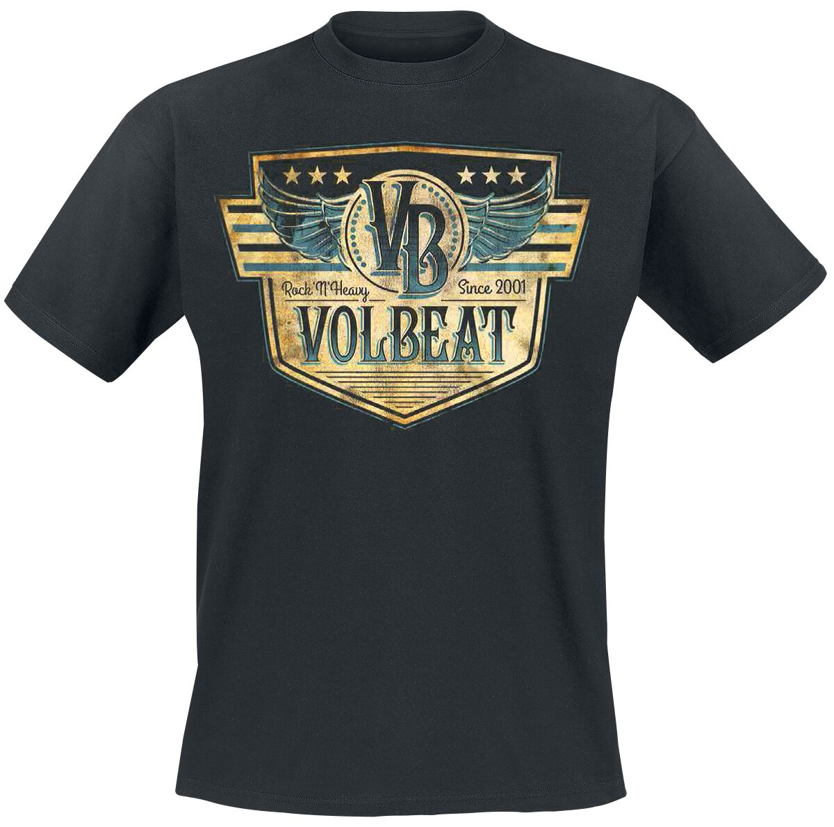 Image of   Volbeat Retro Sign T-Shirt sort