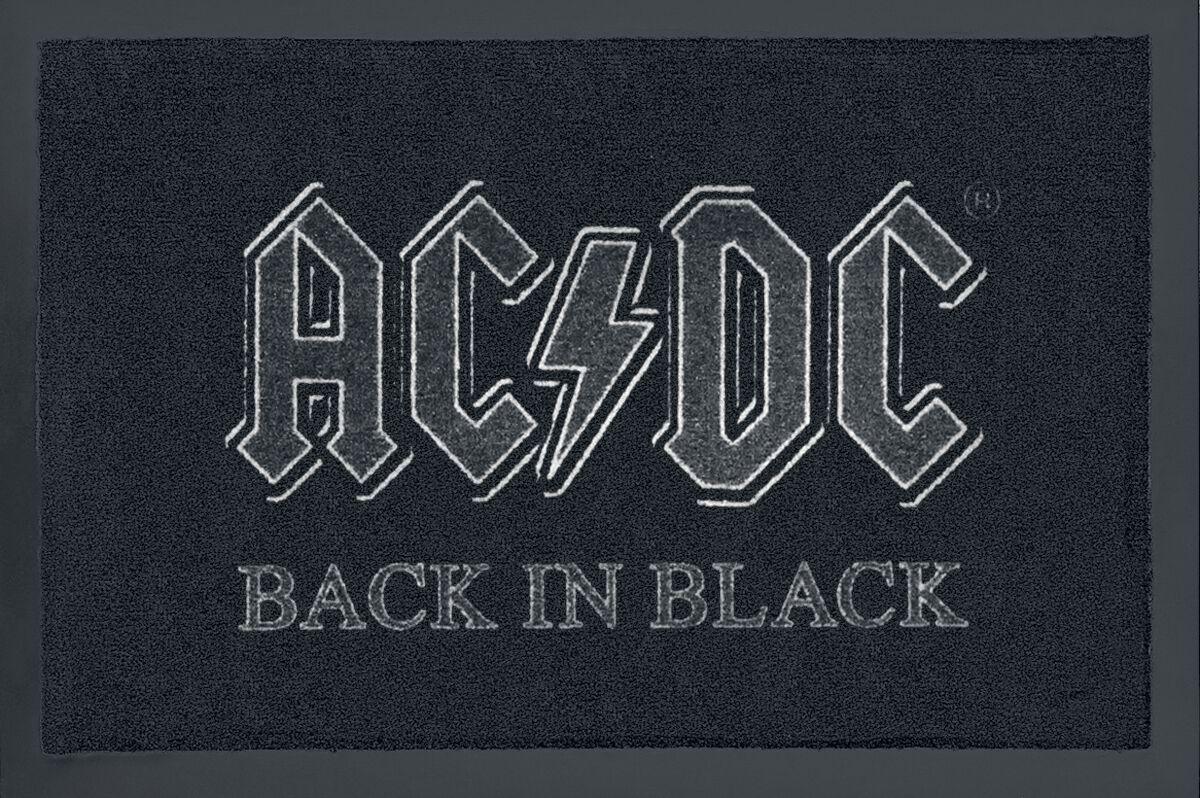 Image of   AC/DC Back In Black Dørmåtte sort