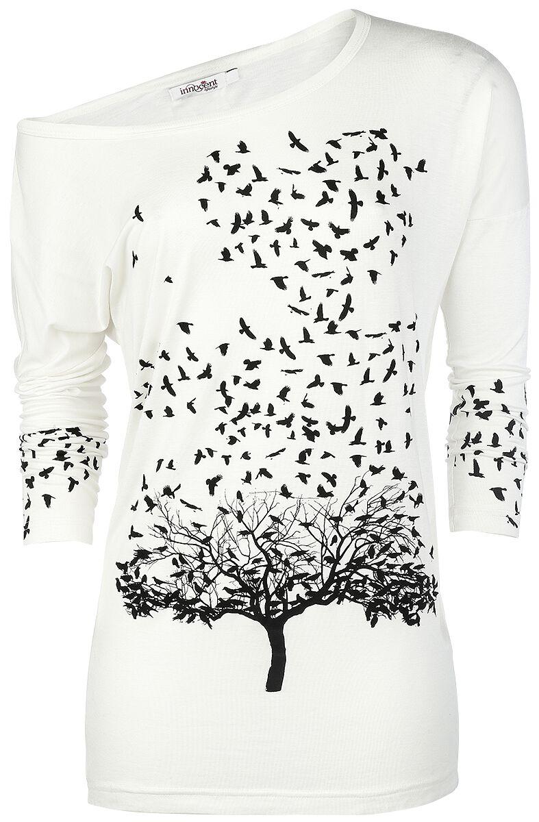 Marki - Longsleeve - Longsleeve damski Innocent Crow Heart Longsleeve damski biały - 291354