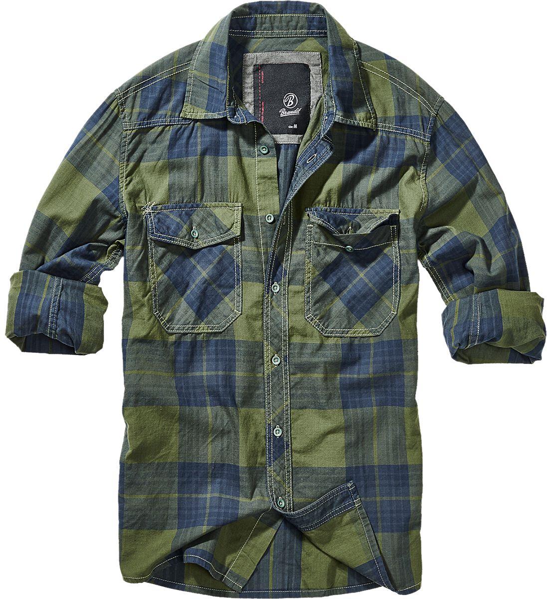 Image of   Brandit Checkshirt Skjorte grøn-blå