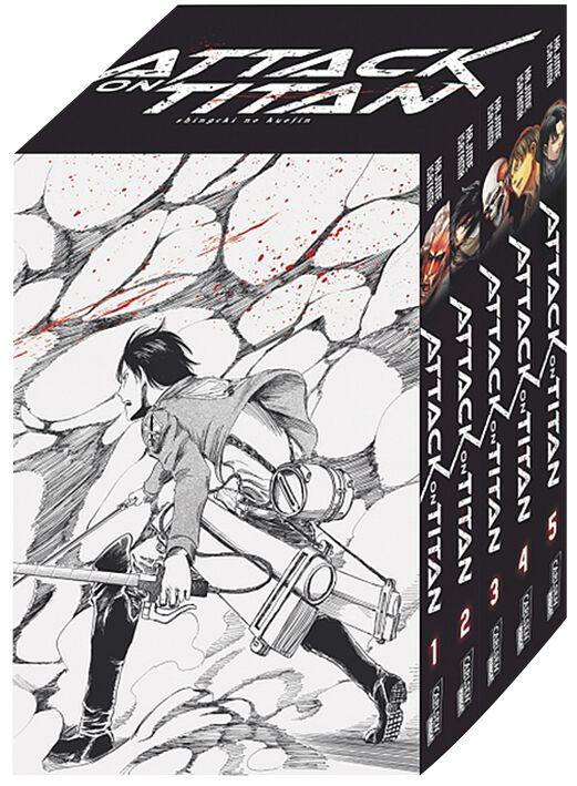 Attack On Titan Bände 1-5 im Sammelschuber mit ...
