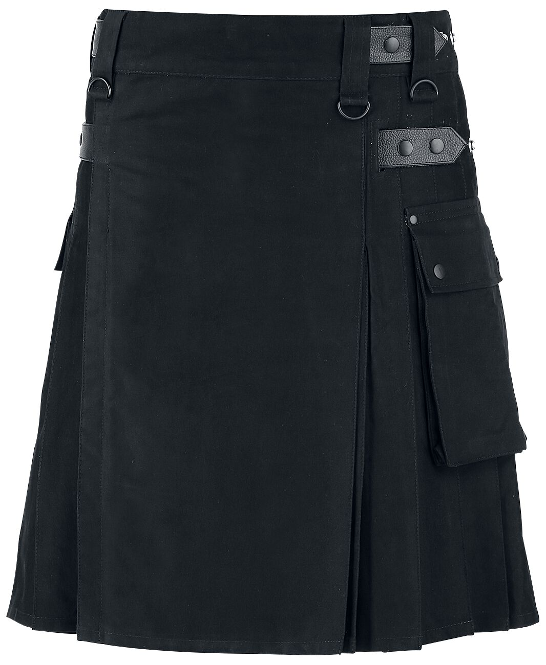 Black Premium by EMP Kilt Medium-length skirt black