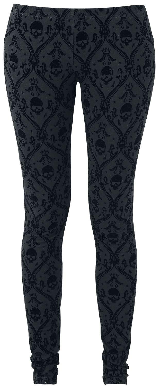 Image of   Black Premium by EMP Allover Skull Leggings sort