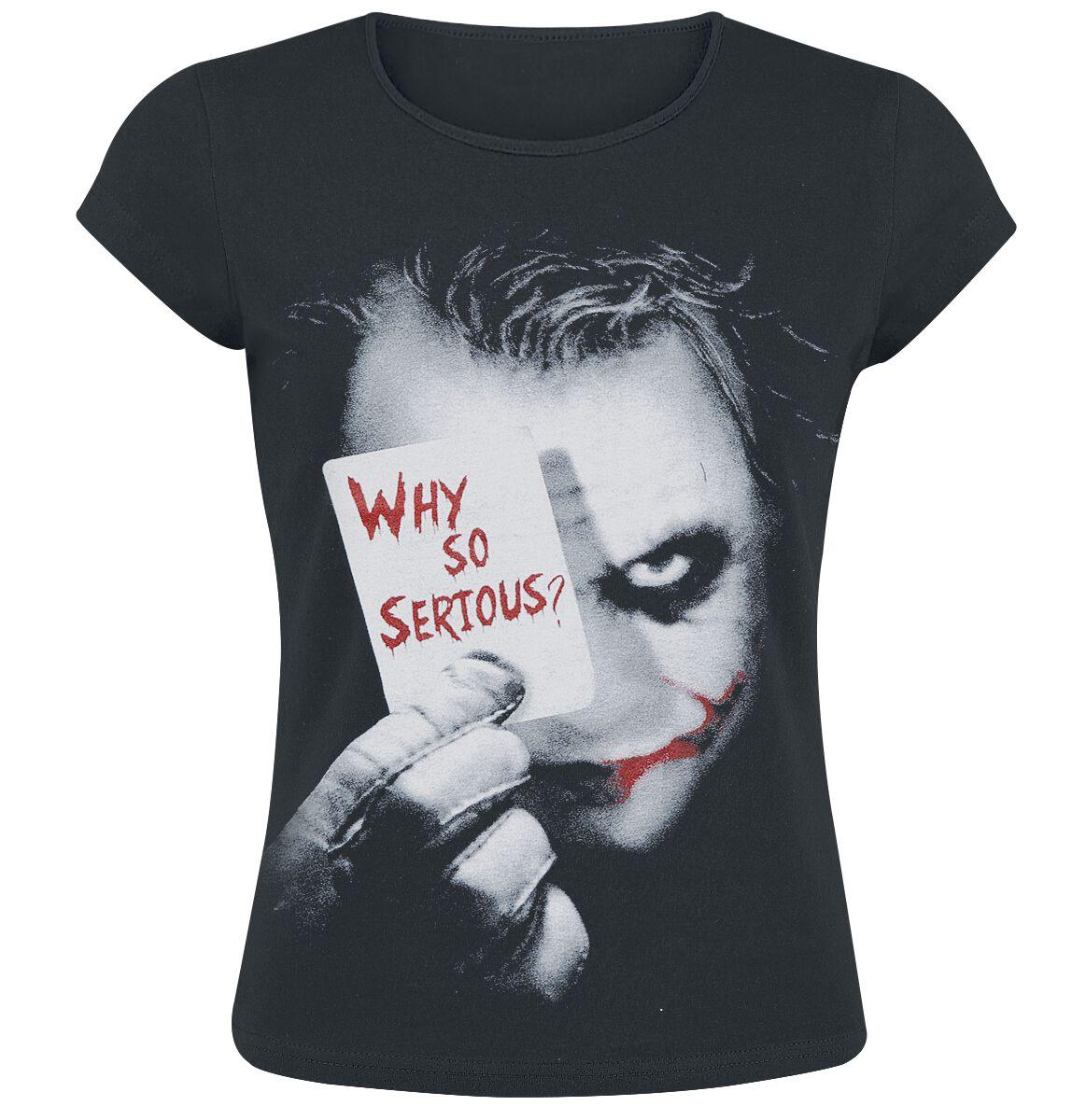 Merch dla Fanów - Koszulki - Koszulka damska The Joker Why So Serious? Koszulka damska czarny - 292299