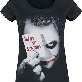 Batman T-shirt Femme Why So Serious Noir L
