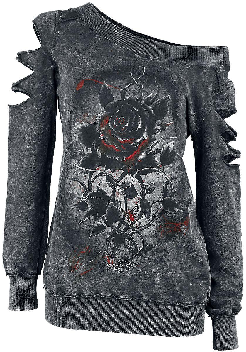 Marki - Bluzy - Sweter damski Alchemy England Roses Nest Sweter damski czarny - 292341