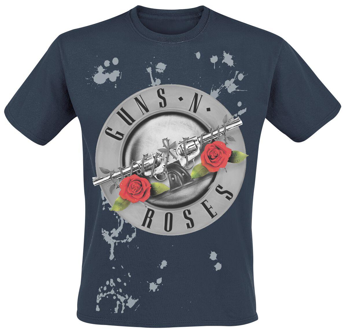 Image of   Guns N' Roses Faded Roses T-Shirt mørk blå