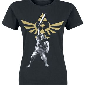 The Legend Of Zelda Logo T-shirt Femme noir