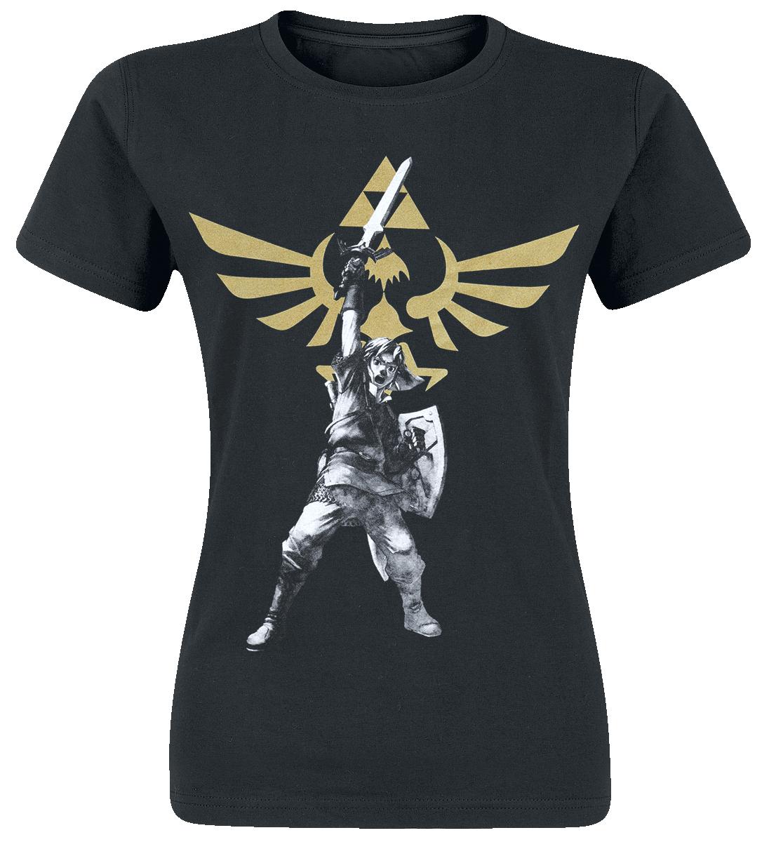 The Legend Of Zelda Logo Koszulka damska czarny