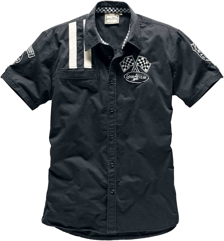 Marki - Koszule z krótkim rękawem - Workershirt GoodYear Shinrock Workershirt czarny - 292779