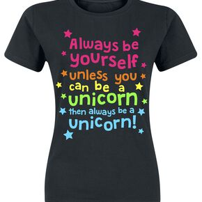 Unicorn Always Be Yourself T-shirt Femme noir