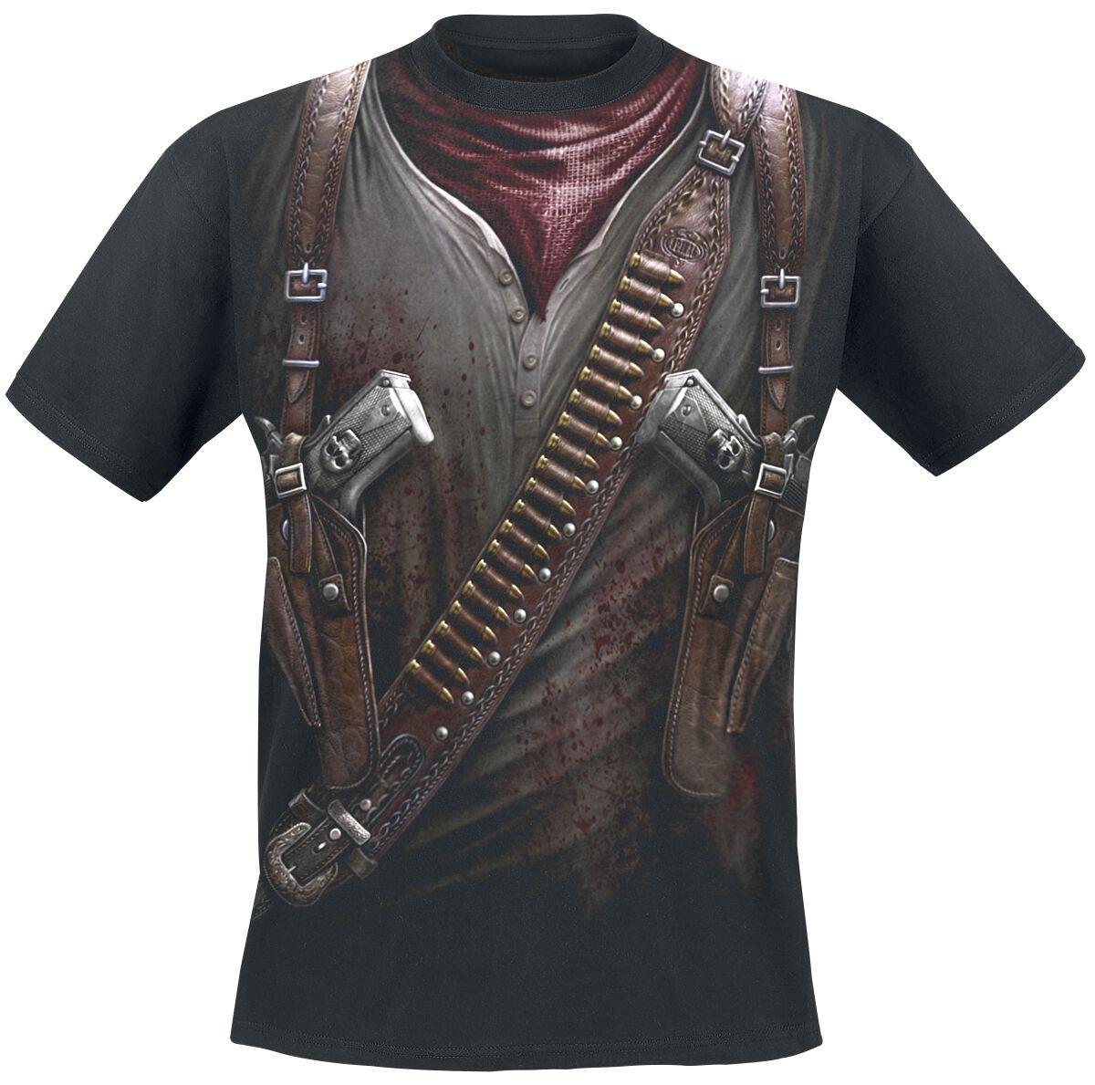 Image of   Spiral Holster Wrap T-Shirt sort