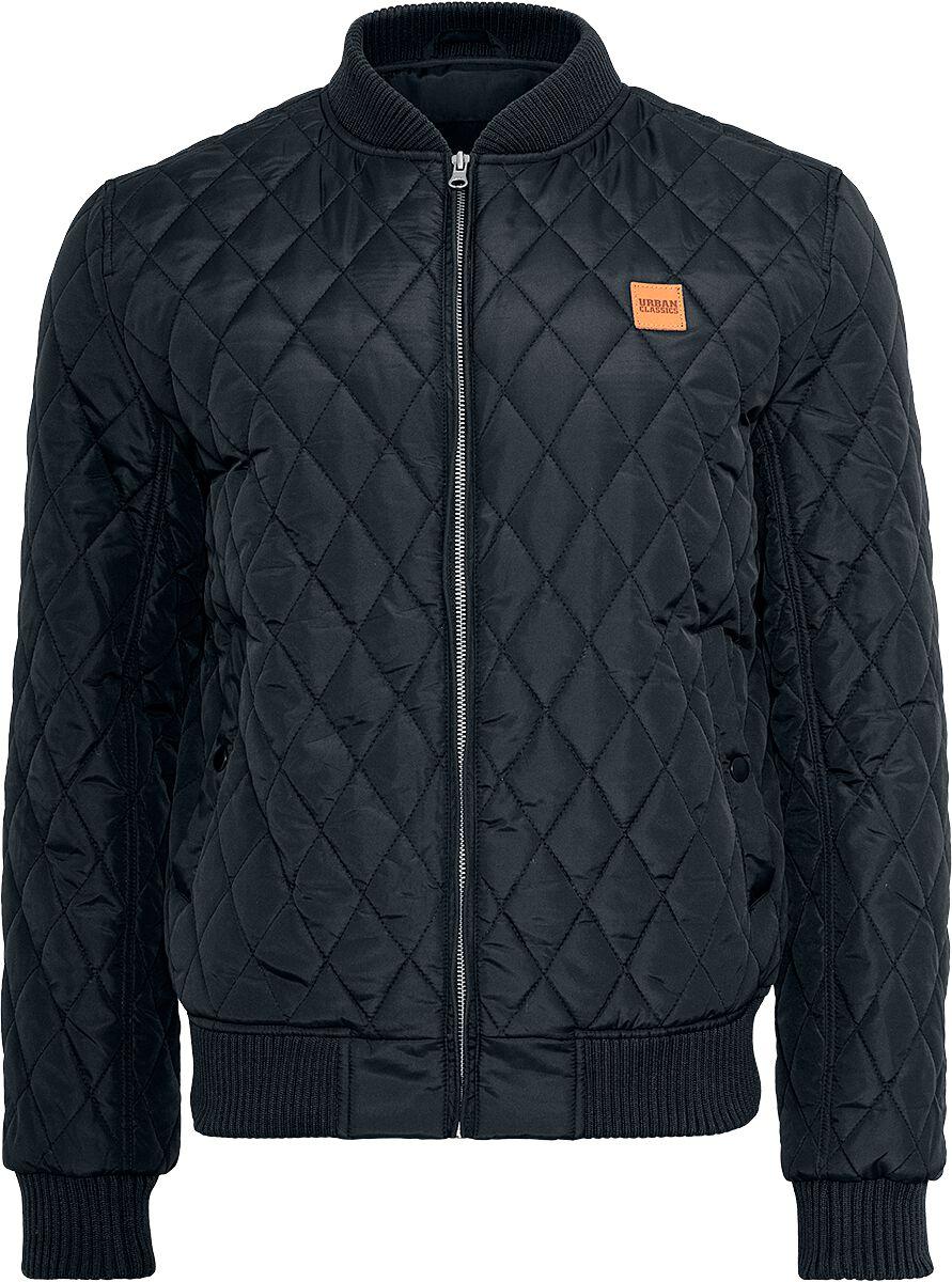 Image of   Urban Classics Diamond Quilt Nylon Jacket Jakke sort