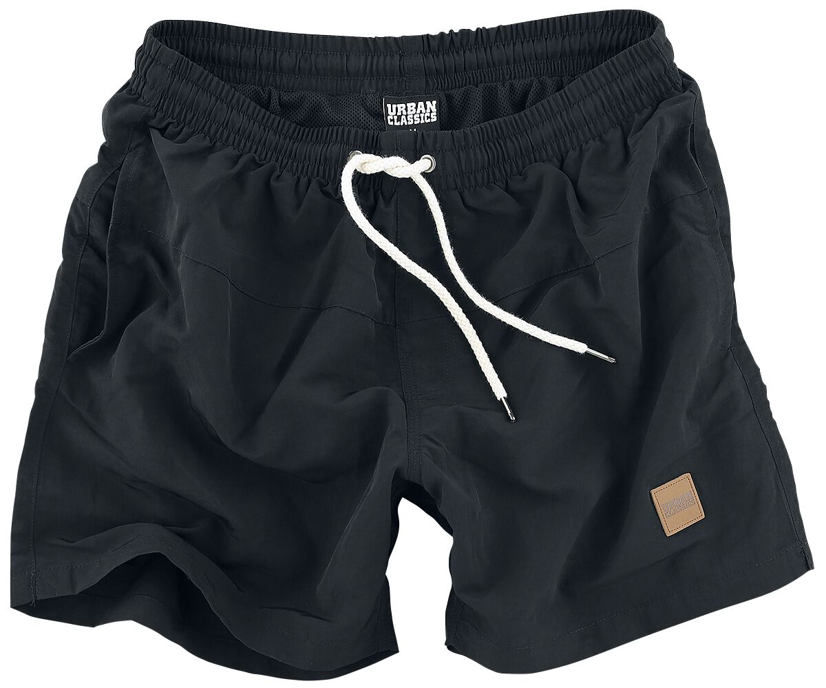 Image of   Urban Classics Block Swim Shorts Badeshorts sort